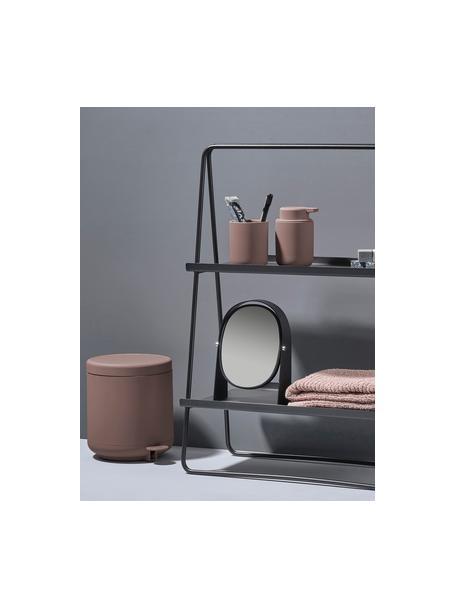 Porta spazzolini in gres Ume, Terracotta rivestita con superficie soft-touch (materiale sintetico), Rosa cipria opaco, Ø 8 x Alt. 10 cm