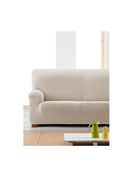 Copertura divano Roc, 55% poliestere, 35% cotone, 10% elastomero, Color crema, Larg. 260 x Alt. 120 cm