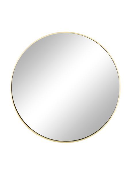 Specchio da parete rotondo con cornice dorata Ada, Cornice: ferro ottonato, Superficie dello specchio: lastra di vetro, Ottone spazzolato, Ø 60 cm