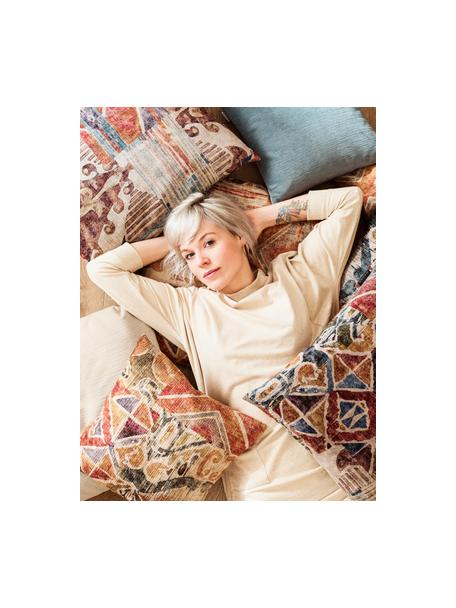 Poszewka na poduszkę z aksamitu Cosima, 100% aksamit poliestrowy, Wiśniowy, wielobarwny, S 40 x D 40 cm