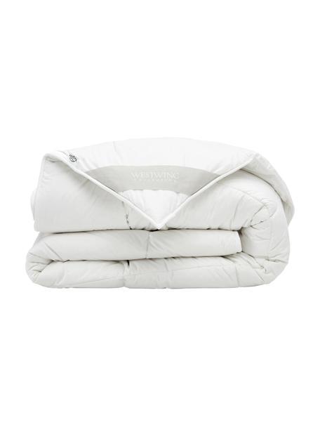 Wegańska kołdra z kapoka i bawełny, ciepła, Tapicerka: 100% bawełna, Biały, S 135 x D 200 cm