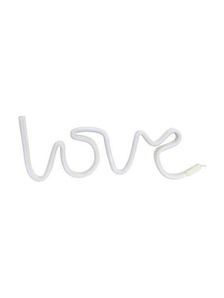 Lampa dekoracyjna LED Love, Tworzywo sztuczne, Biały, S 40 x W 17 cm