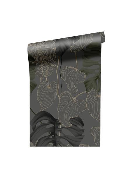 Tapeta Paradiso, Włóknina, Szary, czarny, zielony, brązowy, S 52 x W 1005 cm