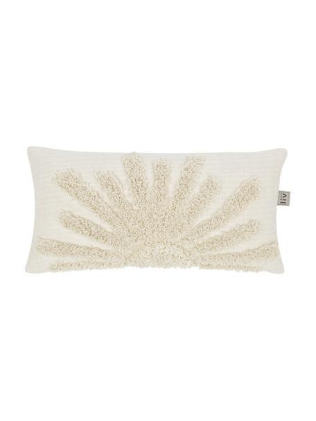 Funda de cojín de algodón ecológico Sunrise, Algodón ecológico, Beige claro, An 30 x L 60 cm
