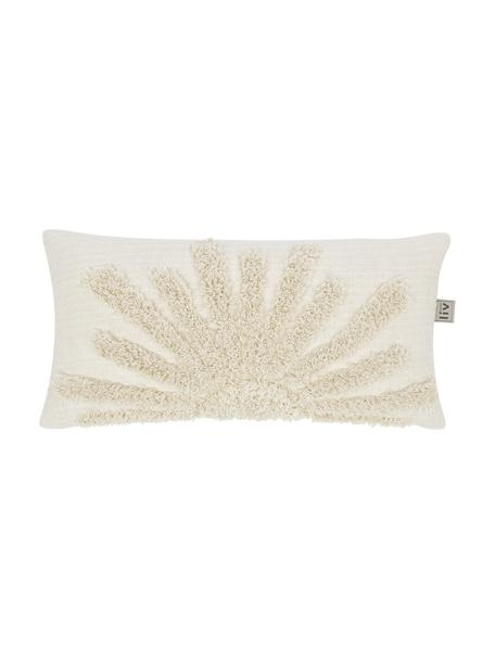 Grob gewebte Kissenhülle Sunrise aus Bio-Baumwolle, 100% Bio-Baumwolle, Hellbeige, 30 x 60 cm