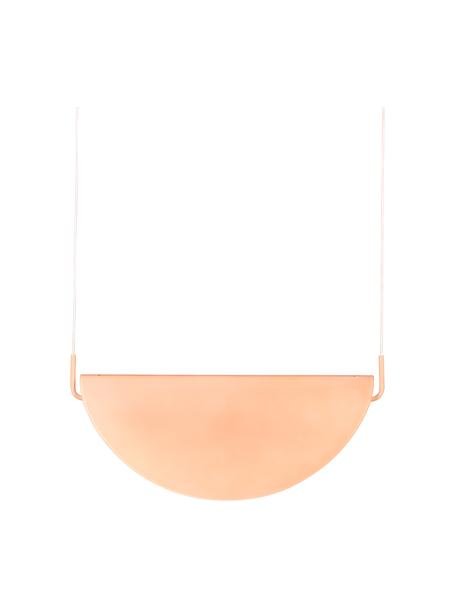 Design LED hanglamp Rani van glas, Lampenkap: glas, Baldakijn: gecoat metaal, Roze, 74 x 28 cm