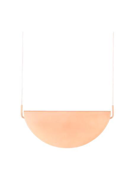 Lampada a sospensione in vetro Rani, Paralume: vetro, Baldacchino: metallo rivestito, Rosa, Larg. 74 x Alt. 28 cm