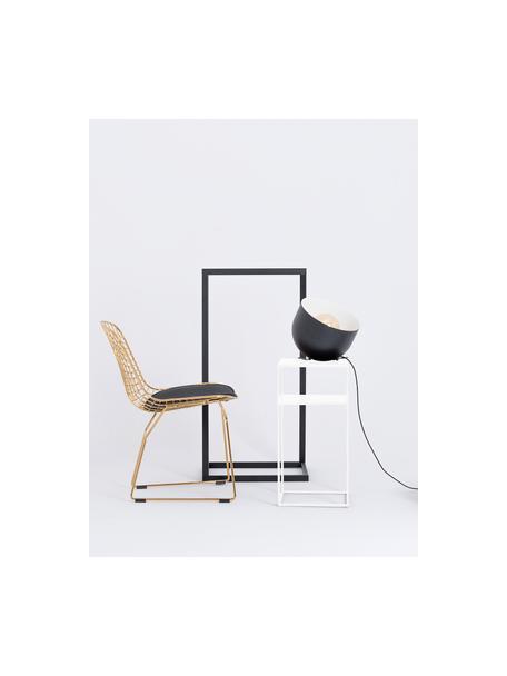 Mesa auxiliar de metal Tensio, Metal con pintura en polvo, Blanco, An 30 x F 30 cm