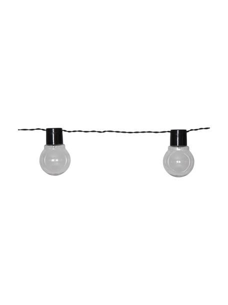 Solarna girlanda świetlna Partaj, 380 cm i 10 lampionów, Czarny, D 380 cm