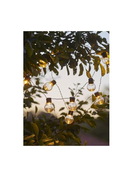 Guirnalda de luces solar Partaj, 380cm, 10 luces, Linternas: plástico, Cable: plástico, Negro, L 380 cm