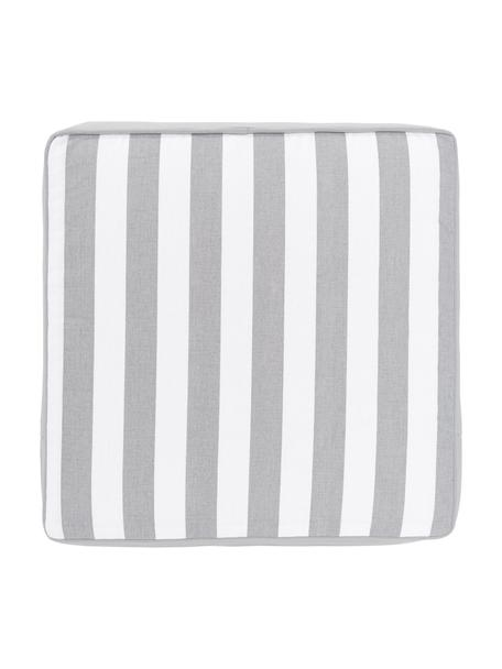 Cojín de asiento alto a rayas Timon, Funda: 100%algodón, Gris, An 40 x L 40 cm