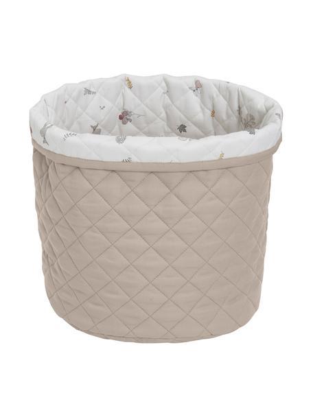 Cesta in cotone organico Fawn, Rivestimento: 100% cotone biologico, Bianco, marrone, beige, Ø 30 x Alt. 33 cm