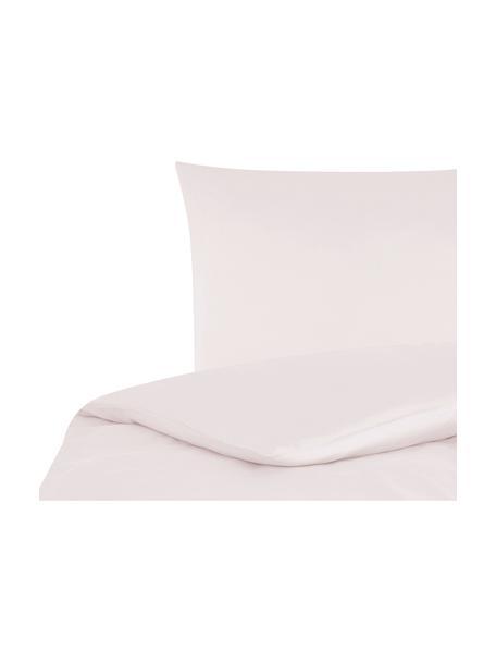 Pościel z satyny bawełnianej Comfort, Blady różowy, 155 x 220 cm + 1 poduszka 80 x 80 cm