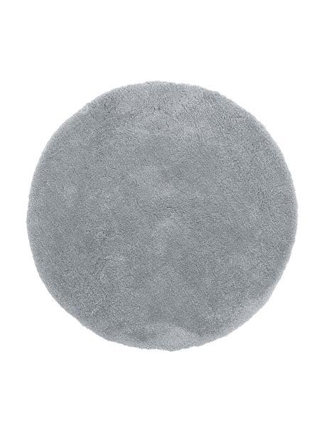 Tappeto rotondo a pelo lungo grigio Leighton, Retro: 100% poliestere, Grigio, Ø 120 cm (taglia S)