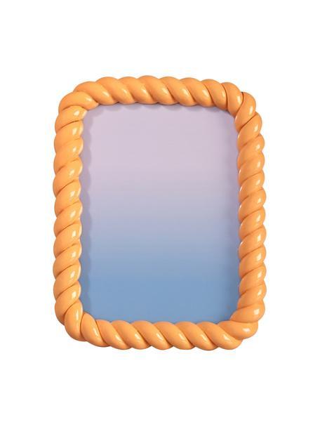 Ramka na zdjęcia Braid, Poliresing, Pomarańczowy, S 15 x D 20 cm