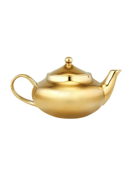 Steingut Teekanne Good Morning in Gold, 1 L, Steingut, beschichtet, Goldfarben, 1 L