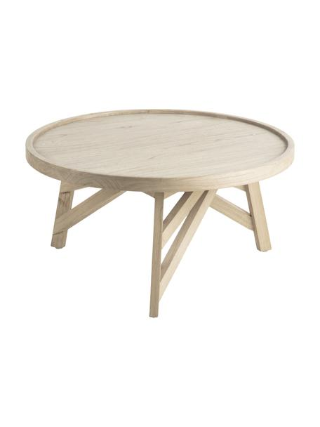 Salontafel Tenda van hout, Mindihout, Beige, Ø 81 x H 81 cm