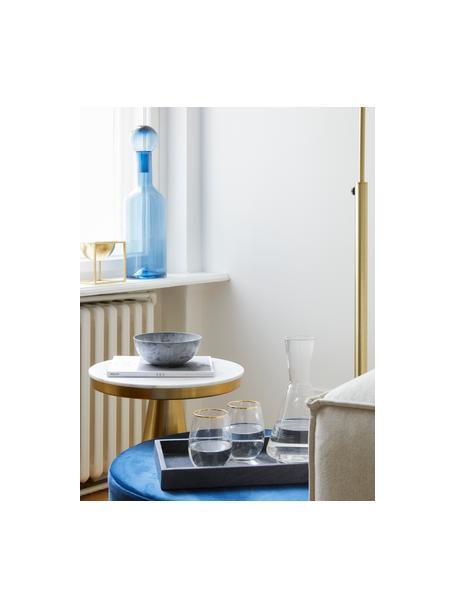 Waterglazen Chloe, 4 stuks, Glas, Transparant, goudkleurig, Ø 9 x H 12 cm
