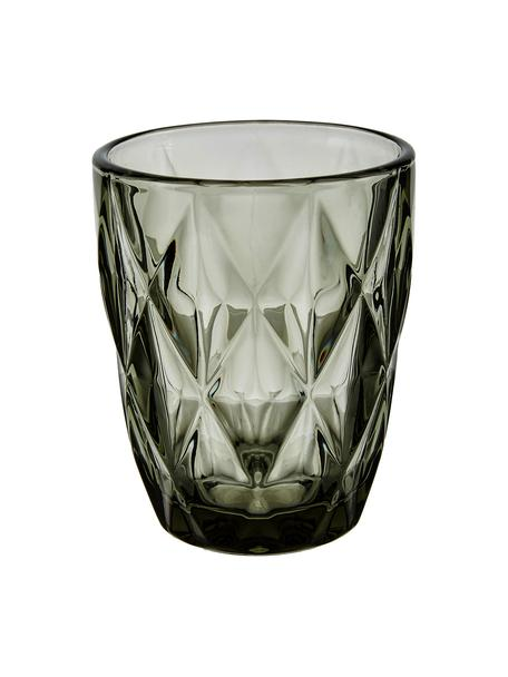 Szklanka do wody Colorado, 4 szt., Szkło, Szary, transparentny, Ø 8 x W 10 cm