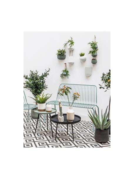 Wandplantenpot Oval van keramiek, Keramiek, Wit, 15 x 19 cm