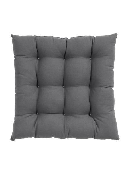 Cojín de asiento Ava, Funda: 100%algodón, Gris oscuro, An 40 x L 40 cm