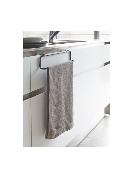 Porta asciugamani Torre, Acciaio rivestito, Nero, Larg. 30 x Alt. 8 cm