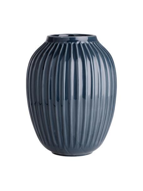 Vaso di design fatto a mano Hammershøi, Porcellana, Antracite, Ø 20 x Alt. 25 cm