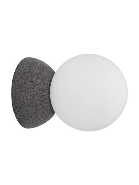 Aplique / Plafón de hormigón Zero, Fijación: cemento, Pantalla: vidrio opalino, Gris, blanco, Ø 10 x F 14 cm