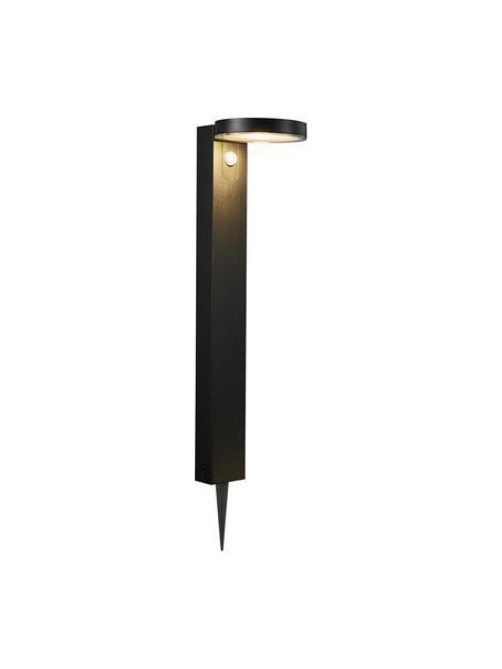 Lámpara solar de suelo Rica, con sensor de movimiento, Pantalla: plástico, Negro, An 15 x Al 60 cm