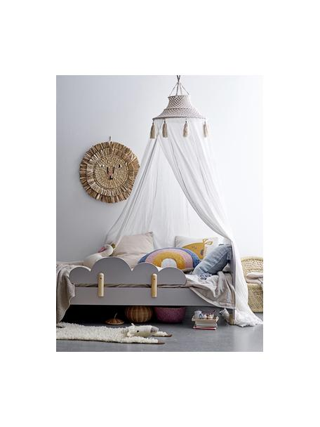 Betthimmel Stars, Baumwolle, Metall, Weiß, Creme, Ø 50 x H 275 cm