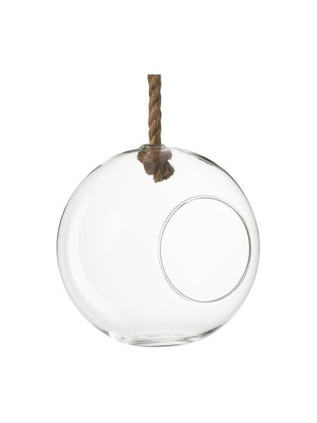 Wisząca donica  Ball, Transparentny, Ø 22 x W 22 cm