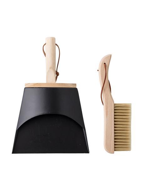 Set de cepillo y recogedor Sylwia, 2pzas., Marrón, negro, Set de diferentes tamaños