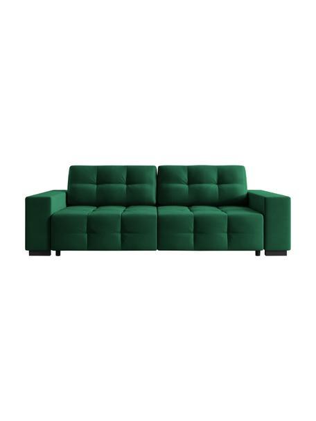 Sofa rozkładana z aksamitu Uvite (3-osobowa), Butelkowy zielony, S 250 x G 106 cm