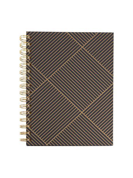 Cuaderno Bürli, Dorado, gris oscuro, An 16 x Al 21 cm