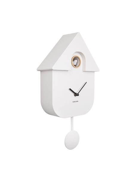 Orologio da parete Modern Cuckoo, Materiale sintetico, Bianco, nero, Larg. 22 x Alt. 41 cm