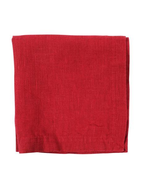 Serwetka z lny Basic, 2 szt., Len, Czerwony, S 35 x D 35 cm