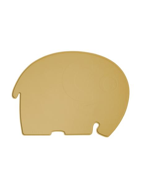 Tovaglietta elefantino in silicone Fanto, Silicone, senza BPA, Giallo, Larg. 43 x Alt. 33 cm