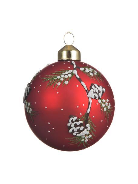 Weihnachtskugeln Trio Ø 8 cm, 3 Stück, Rot, Weiss, Grün, Ø 8 cm