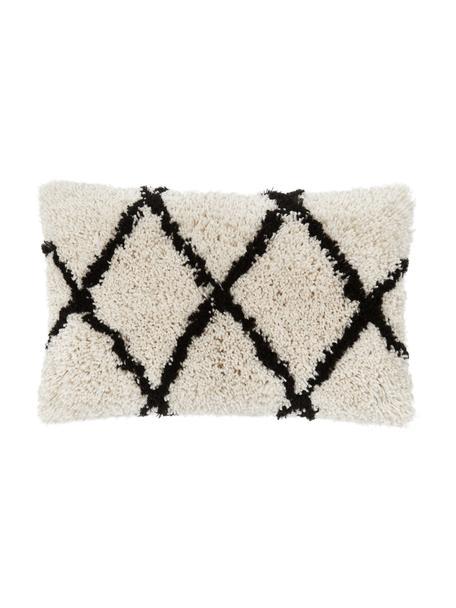 Kissenhülle Naima in Beige/Schwarz, Vorderseite: 100% Polyester, Rückseite: 100% Baumwolle, Beige,Schwarz, 30 x 50 cm