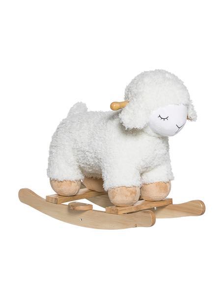 Zabawka na biegunach Meeh, Stelaż: drewno brzozowe, Biały, S 34 x W 48 cm