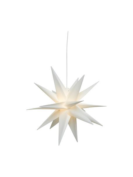 Estrella luminosa LED Zing, a pilas, Cable: plástico, Blanco, Ø 30 cm