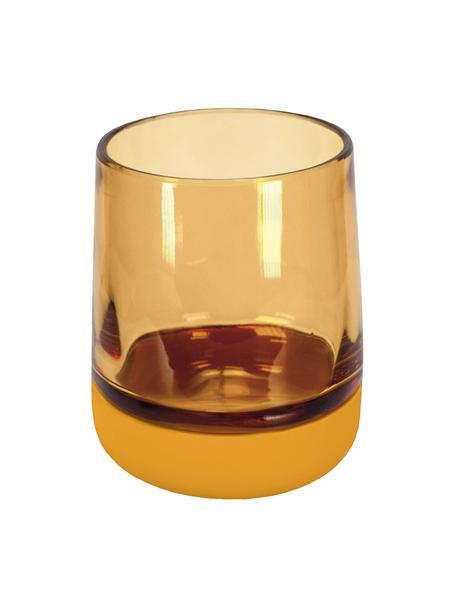 Tandenborstelbeker Belly van glas, Beker: glas, Geel, Ø 9 x H 11 cm