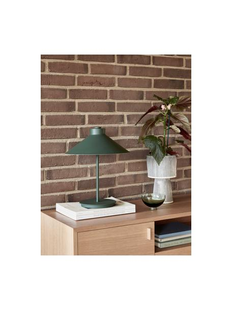 Lampada da tavolo in metallo Garniur, Paralume: metallo verniciato, Base della lampada: metallo verniciato, Verde scuro, Ø 30 x Alt. 38 cm
