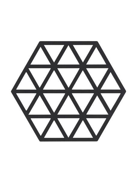 Silicone panonderzetter Triangle in zwart, Siliconen, Zwart, B 14 x D 16 cm