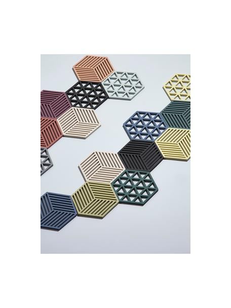 Podstawka pod gorące naczynia z silikonu Triangle, Silikon, Czarny, S 14 x G 16 cm