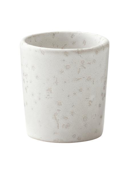 Portauova in gres beige chiaro puntinato Bizz 6 pz, Gres, Beige chiaro, Ø 5 x Alt. 5 cm
