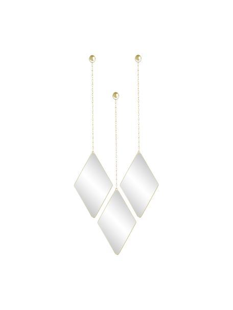 Set de espejos de pared Dima, 3pzas., Espejo: cristal, Dorado, An 18 x Al 29 cm