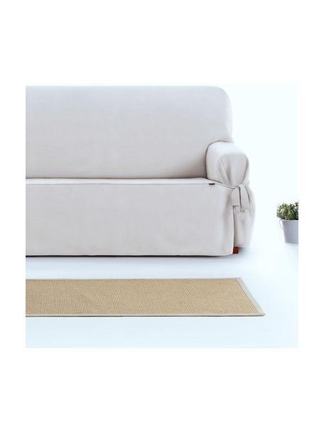 Funda de sofá Levante, 65%algodón, 35%poliéster, Crema, 2 plazas (160 x 110 cm)