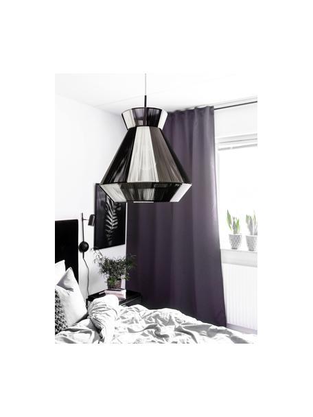 Lampada a sospensione nera-bianca Random, Paralume: cotone, Struttura: metallo, Nero, bianco, Ø 40 x Alt. 38 cm