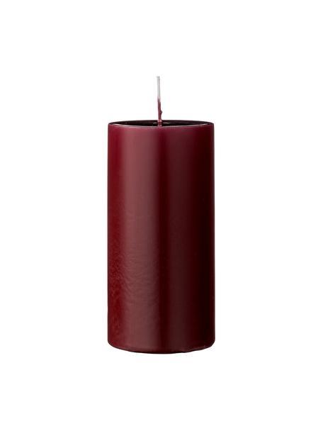 Candela pilastro Lulu 2 pz, Cera, Rosso vino, Ø 7 x Alt. 15 cm